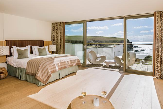 The Scarlet Hotel Room - Cornish coastal hotels