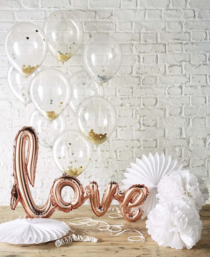 Aldi Wedding Balloons and Pom Poms