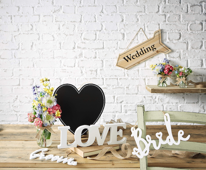 Aldi Wedding Wooden Decorations
