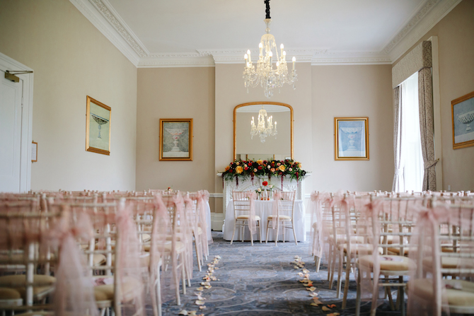 Oakley Hall Hotel Wedding Ceremony Space
