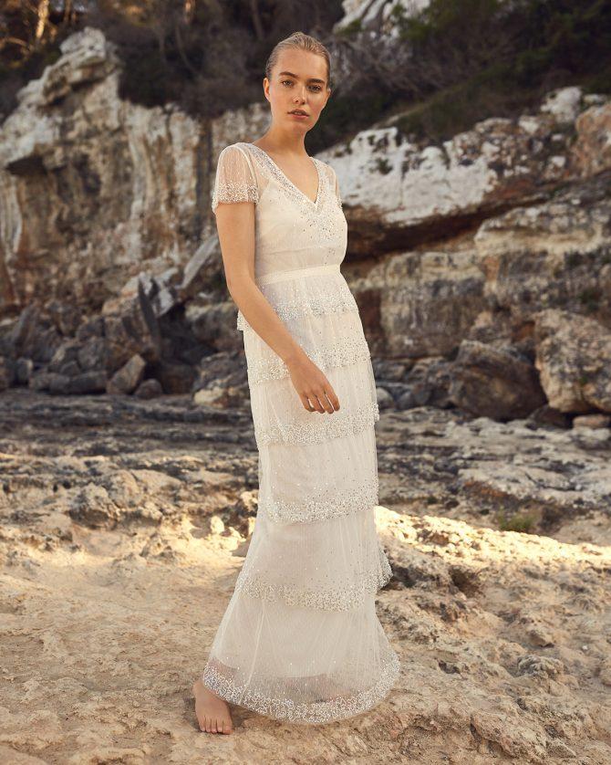 Nyelle Layered Wedding Dress - Phase Eight