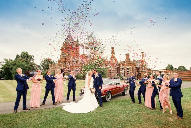 The Elvetham Confetti Couple Shot