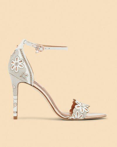 CIMAA Laser cut floral heeled sandals