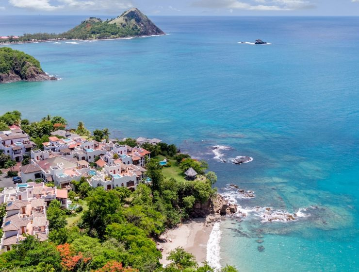 Cap Maison in St Lucia on coast
