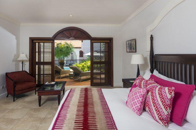 Courtyard Villa Suite Bedroom Cap Maison
