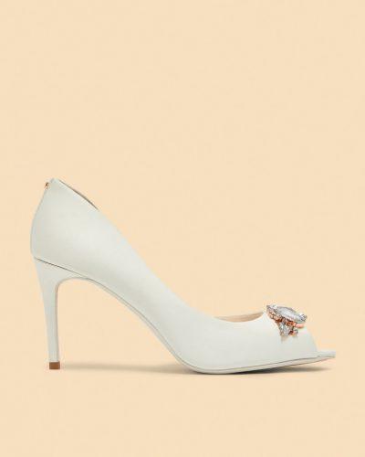 KLIOHNA Embellished peep toe courts