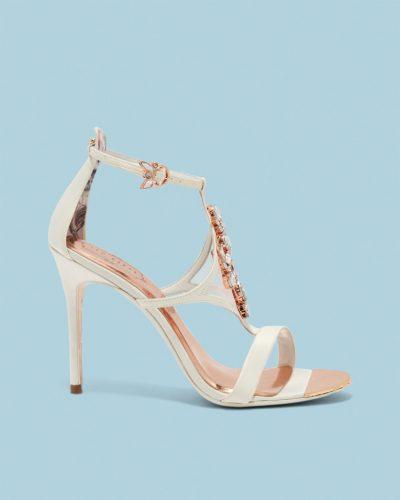 LIOSA Embellished strap satin sandals