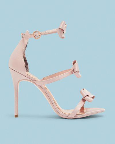 NUSCALA Bow strap stiletto sandals