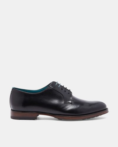 SILICE Shiny leather derby shoes
