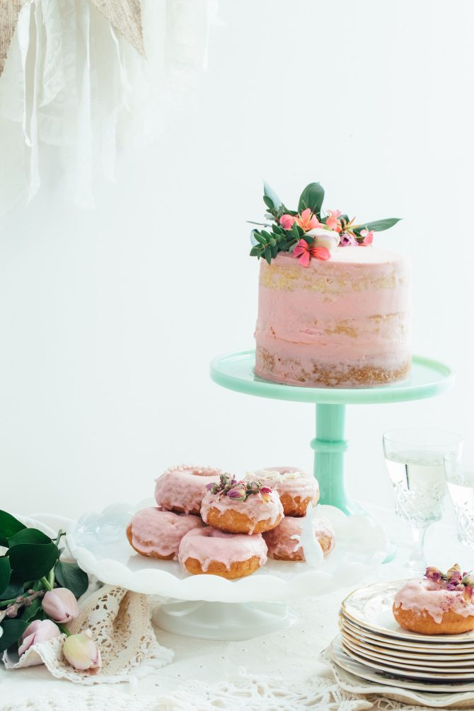 Pink Wedding Cake and Bakery Treats Kelly Neil