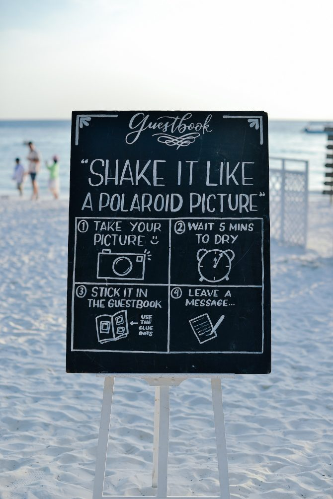 Wedding instagram chalkboard