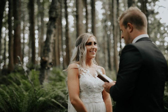 Forest ceremonies | Real Wedding Janay and Jono