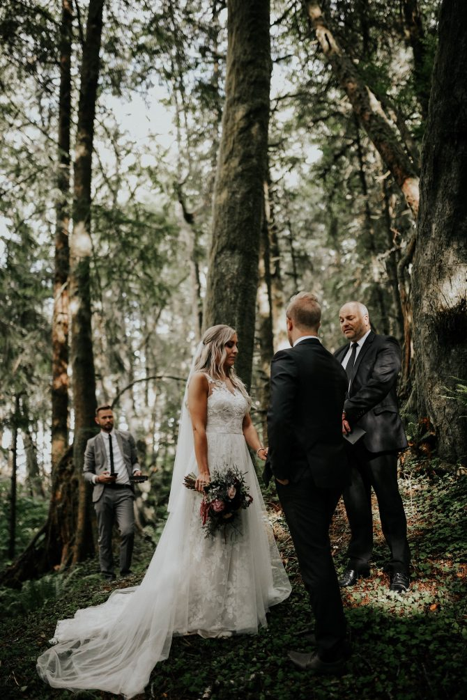 Wedding ceremony in the woods | Real Wedding Janay and Jono