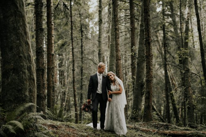 Couple in the forest | Real Wedding Janay and Jono