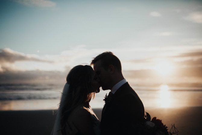 Couple at sunset | Real Wedding Janay and Jono