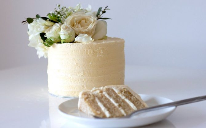 Royal Wedding Vegan Lemon and Elderflower Cake