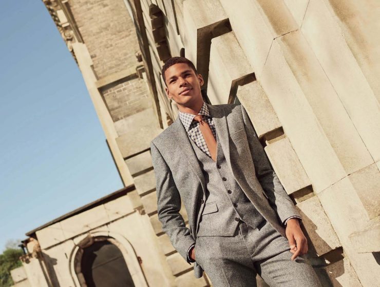Autumn Mens Styling - Next Mens AW18 Light Grey Suit with Check Shirt