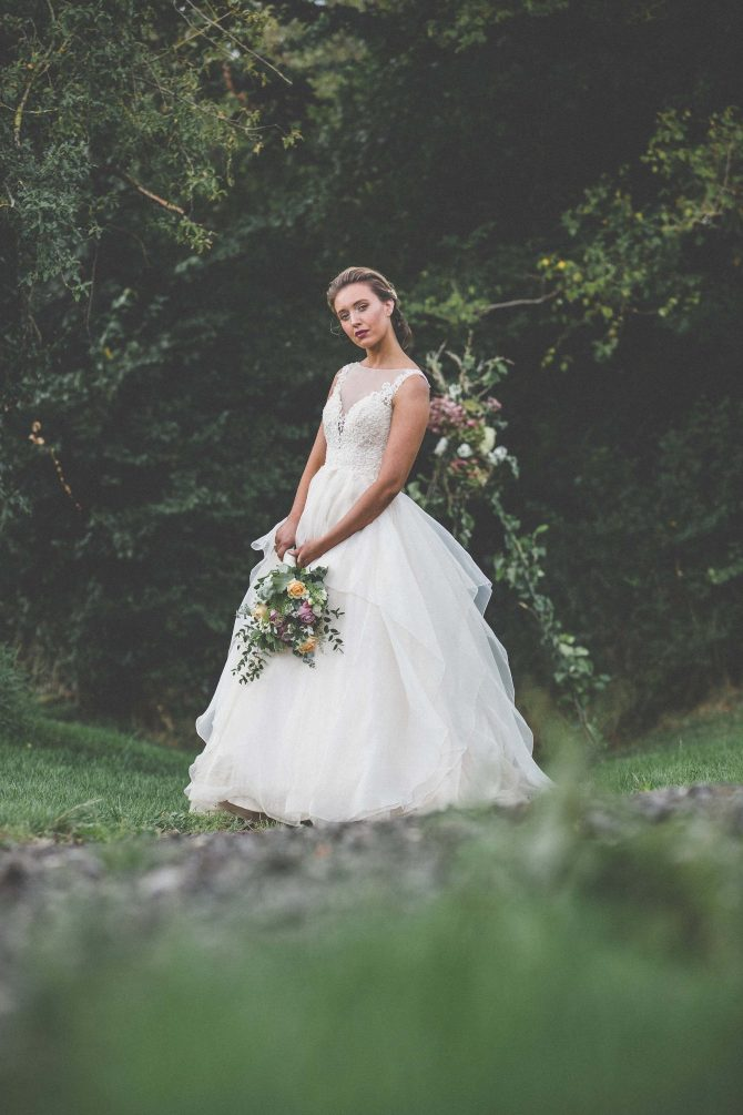 Bride in the countryside