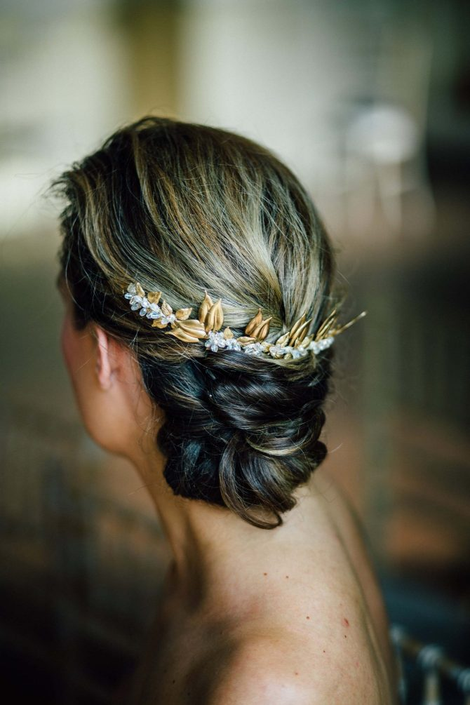 Autumnal bridal headpiece