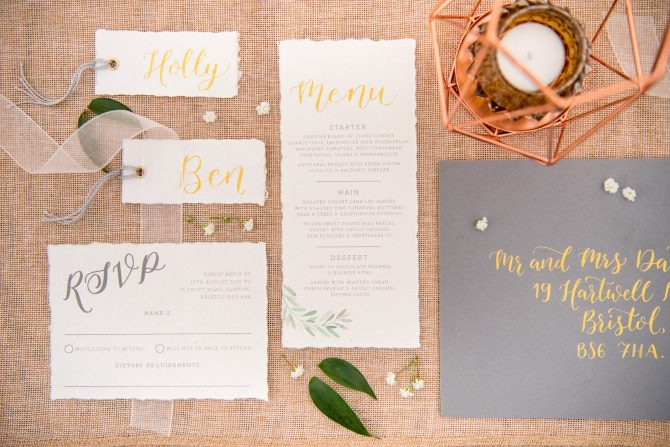 Botanical boho stationery
