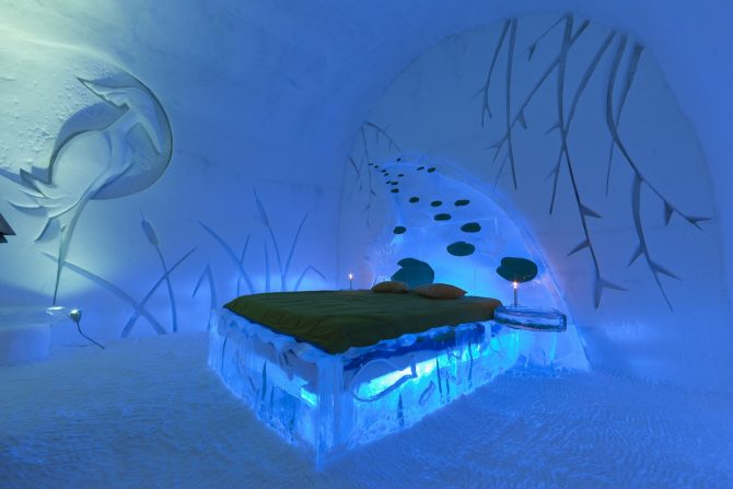 Ice Hotel Bed Credit Xavier Dachez