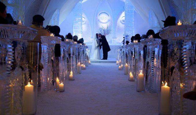 Ice Hotel Wedding Ceremony Xavier Dachez