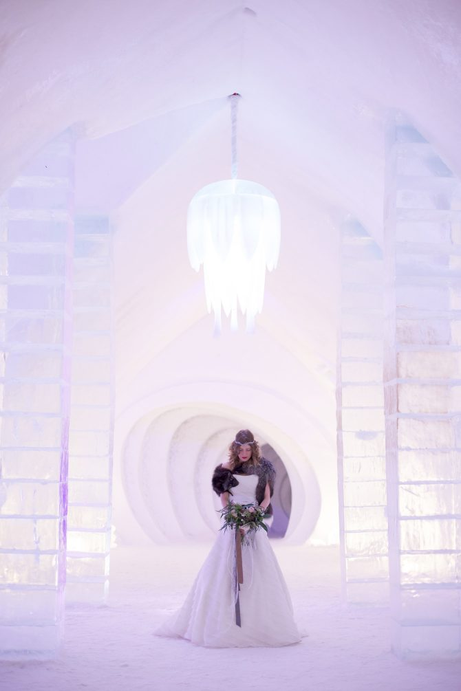 Ice Hotel Wedding Credit Valerie Busque