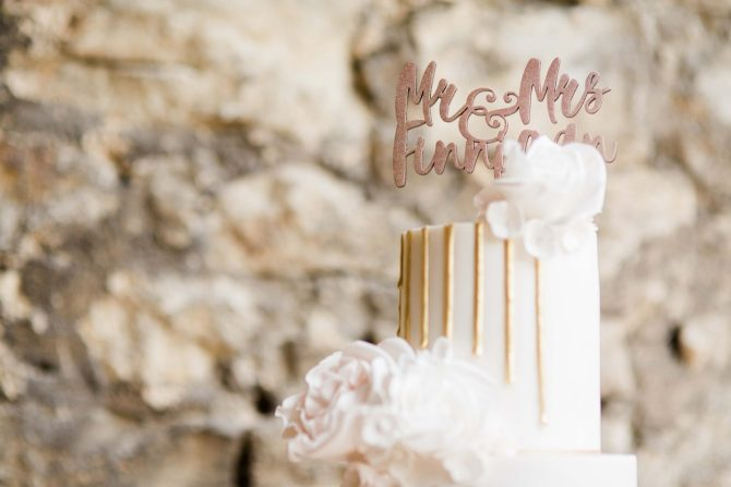 Personalised wedding cake topper