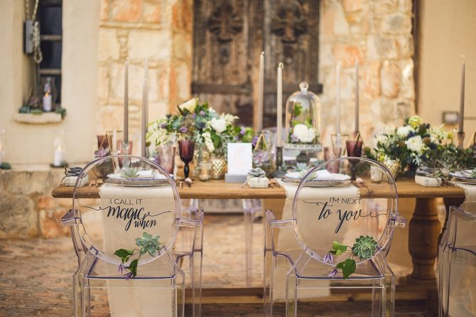 Wedding Table at Columbia Beach Resort