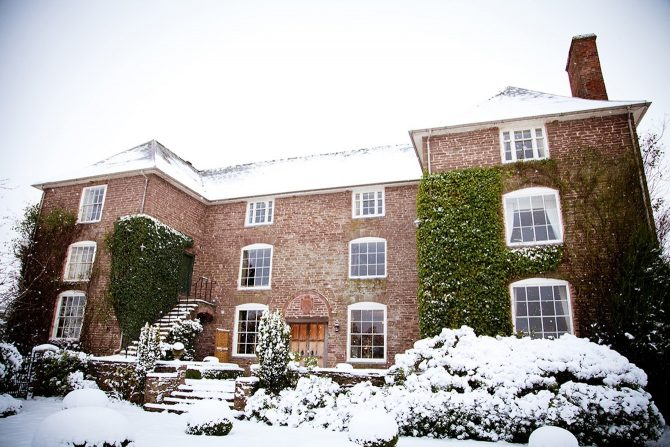 Dewsall Court in the snow -Saz Chapman Photography
