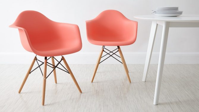 Danetti, Coral Eames Style Dining Armchair