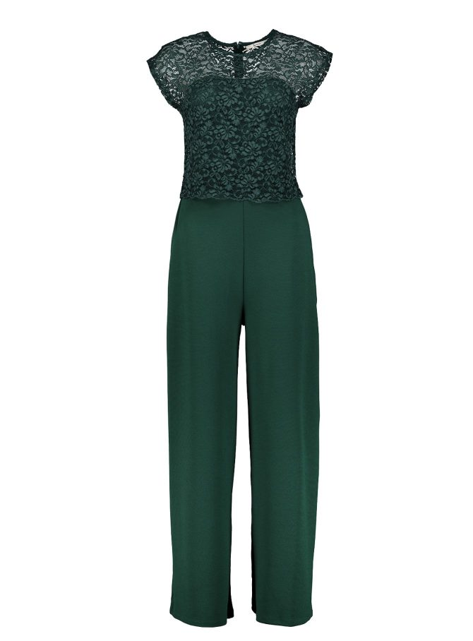 Tu Clothing, Dark Green Lace Jumpsuit