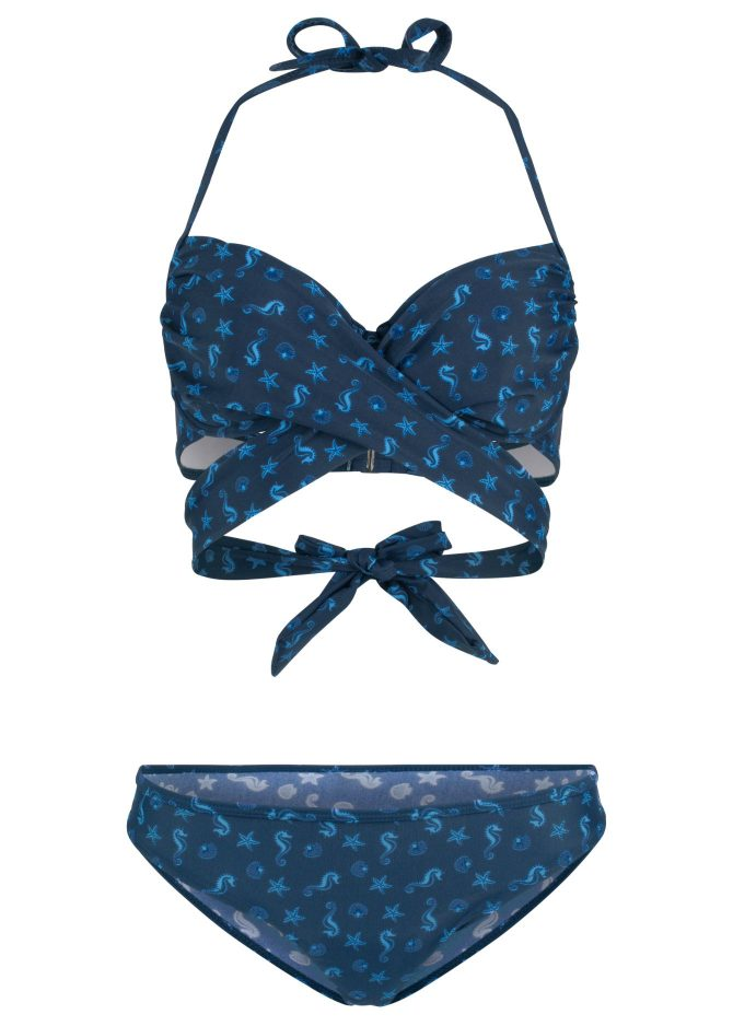 Bon Prix Printed Underwired Bikini and Bottoms by Rainbow