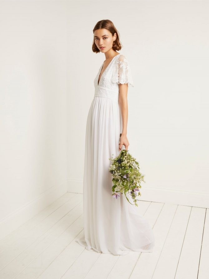 FRENCH CONNECTION EMELINA EMBELLISHED WEDDING DRESS £295